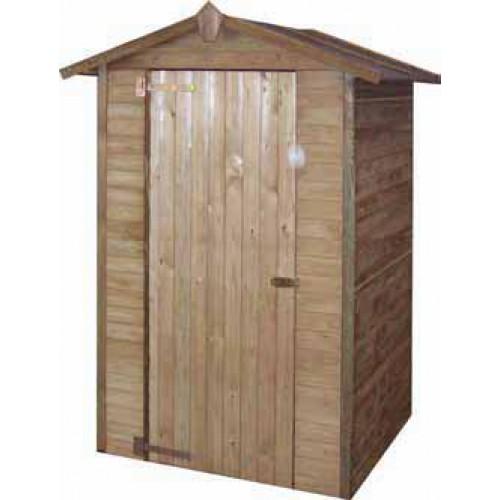 Ripostiglio in legno con porta for Legnaia con ripostiglio